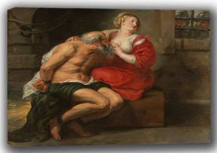Rubens, Peter Paul: Cimon and Pero. Fine Art Canvas. Sizes: A4/A3/A2/A1 (001565)